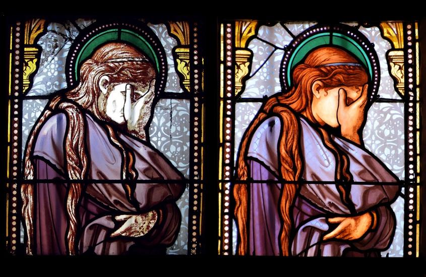Restauration des vitraux, des encadrements et du remplagedes baies de lachapelle Jeanne d'Arc et l'absidioleNord  Egliseclassée au titre des monuments historiques