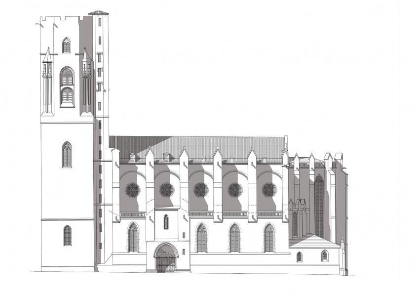 Fin du diagnostic préalable aux travaux de restauration des façades, des vitraux et des couvertures des bas-côtés de l'église Saint-Vincent, classée au titre des Monuments Historiques