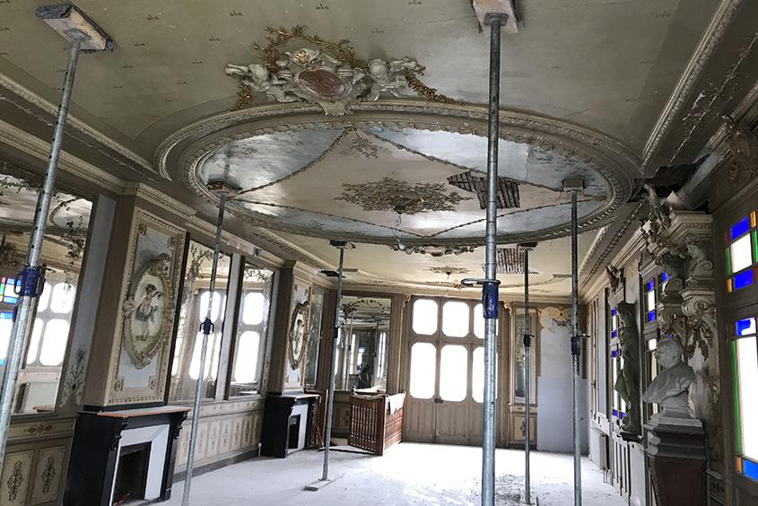 Bâtiments emblématique de la ville de Carcassonne, l'ancien Palais de la Micheline, est en cours de restauration.