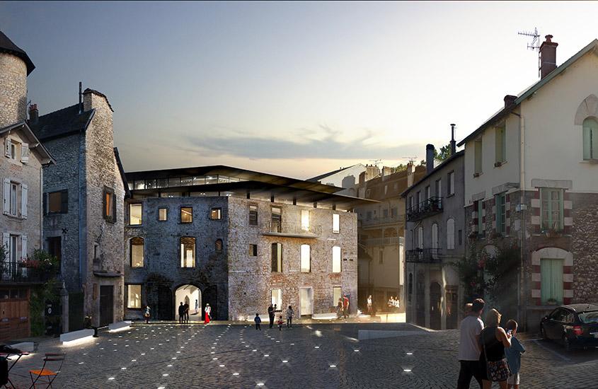 Création d'un pôle culturel dans ensemble architectural médiéval dit maison «Marty nasses».