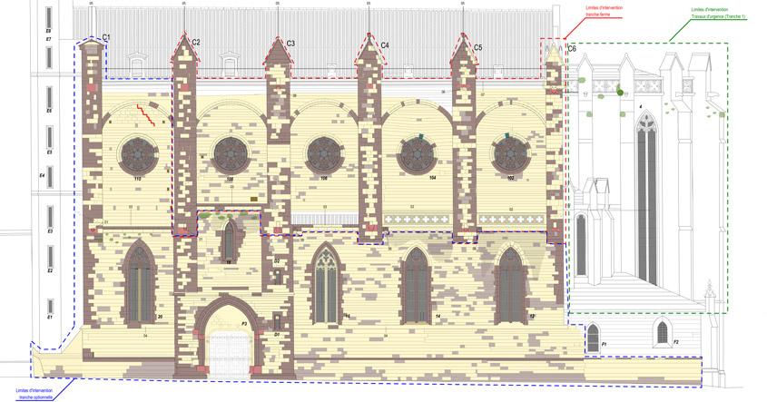 Fin des études de projet pour la première phase de travaux en vue de la restauration des façades et du clocher de l'église Saint-Vincent, propriété de la commune de Carcassonne (11).
